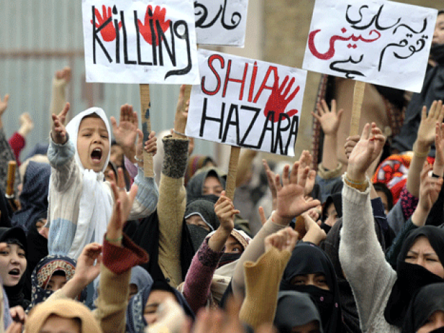 APS attack resurrects fears for Hazaras in the country. PHOTO: AFP